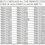 JVC RM-1011R (Список)